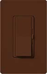 Lutron DVSCELV-300P-SI Diva Satin 300W Electronic Low Voltage Single Pole Dimmer in Sienna