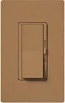 Lutron DVSCELV-300P-TC Diva Satin 300W Electronic Low Voltage Single Pole Dimmer in Terracotta