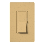 Lutron DVSCFSQ-LF-GS Diva 1.5 A Fan Speed ControlWith 1.0 A LED or CFL and 2.0 A Incandescent/Halogen Single Pole Switch in Goldstone