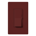 Lutron DVSCFSQ-LF-MR Diva 1.5 A Fan Speed ControlWith 1.0 A LED or CFL and 2.0 A Incandescent/Halogen Single Pole Switch in Merlot