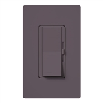 Lutron DVSCFSQ-LF-PL Diva 1.5 A Fan Speed ControlWith 1.0 A LED or CFL and 2.0 A Incandescent/Halogen Single Pole Switch in Plum