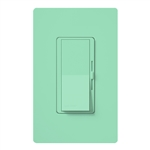 Lutron DVSCFSQ-LF-SG Diva 1.5 A Fan Speed ControlWith 1.0 A LED or CFL and 2.0 A Incandescent/Halogen Single Pole Switch in Seaglass