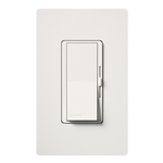 Lutron DVSCFSQ-LF-SW Diva 1.5 A Fan Speed ControlWith 1.0 A LED or CFL and 2.0 A Incandescent/Halogen Single Pole Switch in Snow