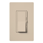 Lutron DVSCFSQ-LF-TP Diva 1.5 A Fan Speed ControlWith 1.0 A LED or CFL and 2.0 A Incandescent/Halogen Single Pole Switch in Taupe