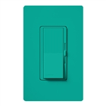 Lutron DVSCFSQ-LF-TQ Diva 1.5 A Fan Speed ControlWith 1.0 A LED or CFL and 2.0 A Incandescent/Halogen Single Pole Switch in Turquoise
