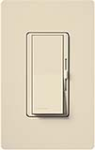 Lutron DVSCFTU-5A3P-ES Diva Satin 120V / 5A Fluorescent Tu-Wire Single Pole / 3-Way Dimmer in Eggshell