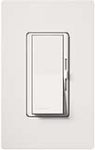Lutron DVSCFTU-5A3P-SW Diva Satin 120V / 5A Fluorescent Tu-Wire Single Pole / 3-Way Dimmer in Snow