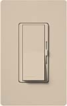 Lutron DVSCFTU-5A3P-TP Diva Satin 120V / 5A Fluorescent Tu-Wire Single Pole / 3-Way Dimmer in Taupe