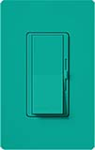 Lutron DVSCFTU-5A3P-TQ Diva Satin 120V / 5A Fluorescent Tu-Wire Single Pole / 3-Way Dimmer in Turquoise