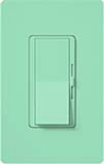 Lutron DVSCLV-600P-SG Diva Satin 600VA, 500W Magnetic Low Voltage Single Pole Dimmer in Sea Glass