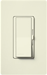 Lutron DVSCSTV-BI Diva Satin 0-10 V Control Single pole/3-way Preset Dimmer, 50 mA sink, 8 A load in Biscuit