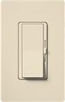 Lutron DVSCSTV-ES Diva Satin 0-10 V Control Single pole/3-way Preset Dimmer, 50 mA sink, 8 A load in Eggshell
