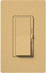 Lutron DVSCSTV-GS Diva Satin 0-10 V Control Single pole/3-way Preset Dimmer, 50 mA sink, 8 A load in Goldstone