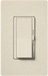 Lutron DVSCSTV-LS Diva Satin 0-10 V Control Single pole/3-way Preset Dimmer, 50 mA sink, 8 A load in Limestone