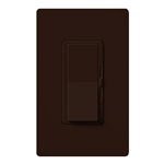 Lutron DVW-600PH-BR Diva 600W Incandescent / Halogen Single Pole Dimmer with Wallplate in Brown