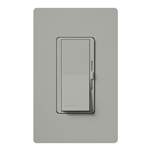 Lutron DVW-600PH-GR Diva 600W Incandescent / Halogen Single Pole Dimmer with Wallplate in Gray