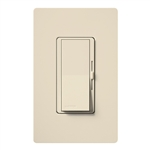 Lutron DVW-603PGH-LA Diva 600W Incandescent / Halogen Single Pole / 3-Way Eco-Dimmer with Wallplate in Light Almond