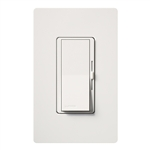Lutron DVW-603PGH-WH Diva 600W Incandescent / Halogen Single Pole / 3-Way Eco-Dimmer with Wallplate in White