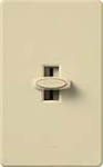 Lutron GL-600P-IV Glyder 600W Incandescent / Halogen Single Pole Preset Dimmer in Ivory