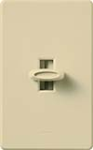 Lutron GLV-600-IV Glyder 600VA (450W) Magnetic Low Voltage Single Pole Slide-to-Off Dimmer in Ivory