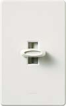 Lutron GLV-600-WH Glyder 600VA (450W) Magnetic Low Voltage Single Pole Slide-to-Off Dimmer in White