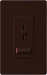 Lutron LXF-103PL-BR Lyneo Lx 120V / 8A Fluorescent 3-Wire / Hi-Lume LED Single Pole / 3-Way Dimmer in Brown
