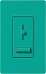 Lutron LXF-103PL-TQ Lyneo Lx 120V / 8A Fluorescent 3-Wire / Hi-Lume LED Single Pole / 3-Way Dimmer in Turquoise