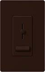Lutron LXFSQ-F-BR Lyneo Lx 120V / 1.5A 3-Speed Single Pole / 3-Way Fan Control in Brown