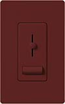 Lutron LXFSQ-F-MR Lyneo Lx 120V / 1.5A 3-Speed Single Pole / 3-Way Fan Control in Merlot
