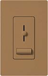 Lutron LXFSQ-F-TC Lyneo Lx 120V / 1.5A 3-Speed Single Pole / 3-Way Fan Control in Terracotta