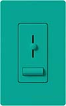Lutron LXFSQ-F-TQ Lyneo Lx 120V / 1.5A 3-Speed Single Pole / 3-Way Fan Control in Turquoise