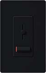 Lutron LXLV-10PL-BL Lyneo Lx 1000VA (800W) Magnetic Low Voltage Single Pole Dimmer in Black
