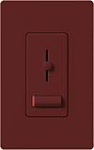 Lutron LXLV-10PL-MR Lyneo Lx 1000VA (800W) Magnetic Low Voltage Single Pole Dimmer in Merlot