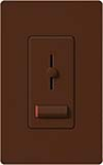 Lutron LXLV-10PL-SI Lyneo Lx 1000VA (800W) Magnetic Low Voltage Single Pole Dimmer in Sienna