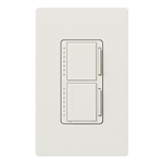 Lutron MA-L3L3HW-WH Maestro 2 x 300W Incancscent / Halogen Single Pole Dual Dimmer in White with Wallplate