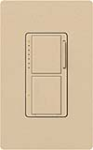 Lutron MA-L3S25-DS Maestro Satin 300W & 2.5A Incandescent / Halogen Single Location Dimmer & Switch in Desert Stone