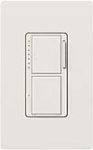 Lutron MA-L3S25-SW Maestro Satin 300W & 2.5A Incandescent / Halogen Single Location Dimmer & Switch in Snow