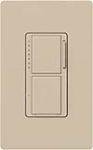 Lutron MA-L3S25-TP Maestro Satin 300W & 2.5A Incandescent / Halogen Single Location Dimmer & Switch in Taupe