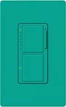 Lutron MA-L3S25-TQ Maestro Satin 300W & 2.5A Incandescent / Halogen Single Location Dimmer & Switch in Turquoise