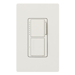 Lutron MA-L3S25HW-WH Maestro 300W & 2.5A Incandescent / Halogen Single Location Dimmer & Switch in White with Wallplate