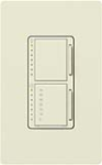 Lutron MA-L3T251-BI Maestro Satin 300W & 2.5A Incandescent / Halogen Single Location Dimmer & Timer in Biscuit