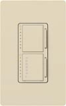Lutron MA-L3T251-ES Maestro Satin 300W & 2.5A Incandescent / Halogen Single Location Dimmer & Timer in Eggshell