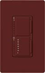 Lutron MA-L3T251-MR Maestro Satin 300W & 2.5A Incandescent / Halogen Single Location Dimmer & Timer in Merlot