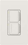Lutron MA-L3T251-SW Maestro Satin 300W & 2.5A Incandescent / Halogen Single Location Dimmer & Timer in Snow
