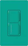 Lutron MA-L3T251-TQ Maestro Satin 300W & 2.5A Incandescent / Halogen Single Location Dimmer & Timer in Turquoise