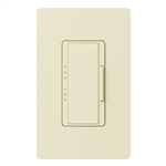 Lutron MA-PRO-AL Maestro Phase-selectable dimmer for LED, ELV, MLV and Incandescent lamp loads, Single Pole / 3-Way Dimmer in Almond