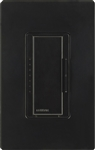 Lutron MA-PRO-BL Maestro Phase-selectable dimmer for LED, ELV, MLV and Incandescent lamp loads, Single Pole / 3-Way Dimmer in Black