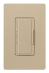 Lutron MA-PRO-DS Maestro Phase-selectable dimmer for LED, ELV, MLV and Incandescent lamp loads, Single Pole / 3-Way Dimmer in Desert Stone