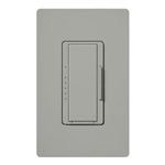 Lutron MA-PRO-GR Maestro Phase-selectable dimmer for LED, ELV, MLV and Incandescent lamp loads, Single Pole / 3-Way Dimmer in Gray