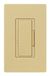 Lutron MA-PRO-GS Maestro Phase-selectable dimmer for LED, ELV, MLV and Incandescent lamp loads, Single Pole / 3-Way Dimmer in Goldstone